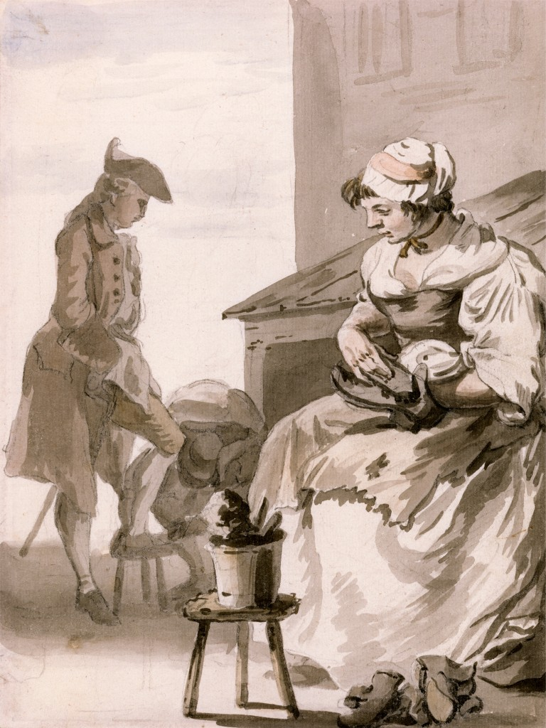 London Cries: Shoe Cleaner by Paul Sandby 1759