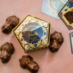 Harry Potter Chocolate Frogs on a pink surface