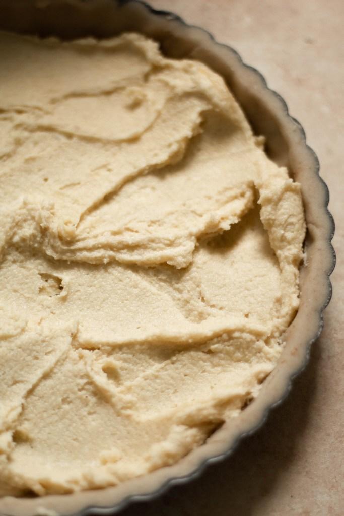 Gluten Free Peach Frangipane Tart in a tart