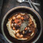 Julia Child inspired vegetarian bourguignon