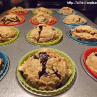 PEANUT BUTTER CHOCOLATE CHIP MUFFINS- Vegan, Gluten-Free, Refined Sugar-Free & Oil-Free