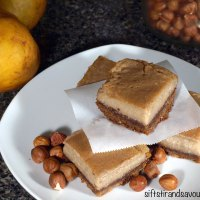 HAZELNUT PEAR CUSTARD BARS- Vegan, Grain-Free, Refined Sugar-Free & Oil-Free