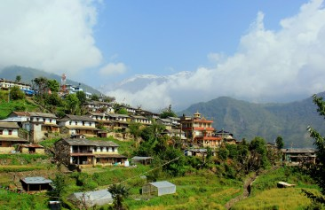 typical Hindu village in the lowlands