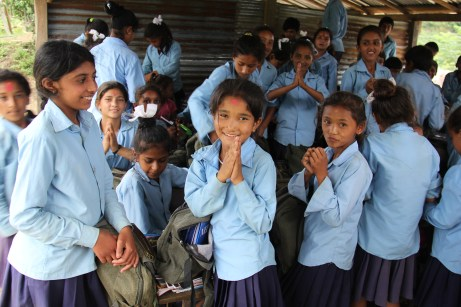 """In Nepal, the act of putting your hands together and saying """"Namaste"""" is a sign of respect. The saying translates into """" I respect the God within you""""."""