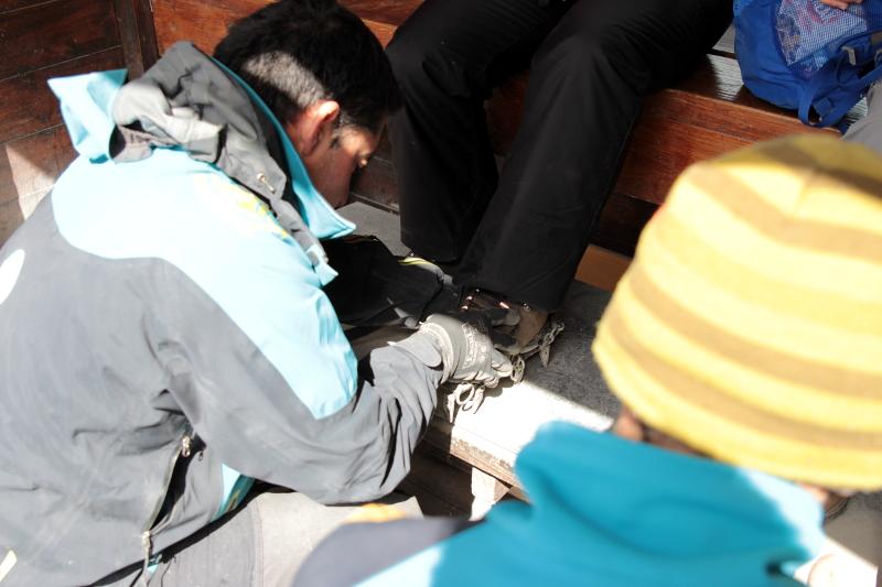 Siga na Viagem - Minitrekking sobre o Glaciar Perito Moreno - Colocação dos grampões