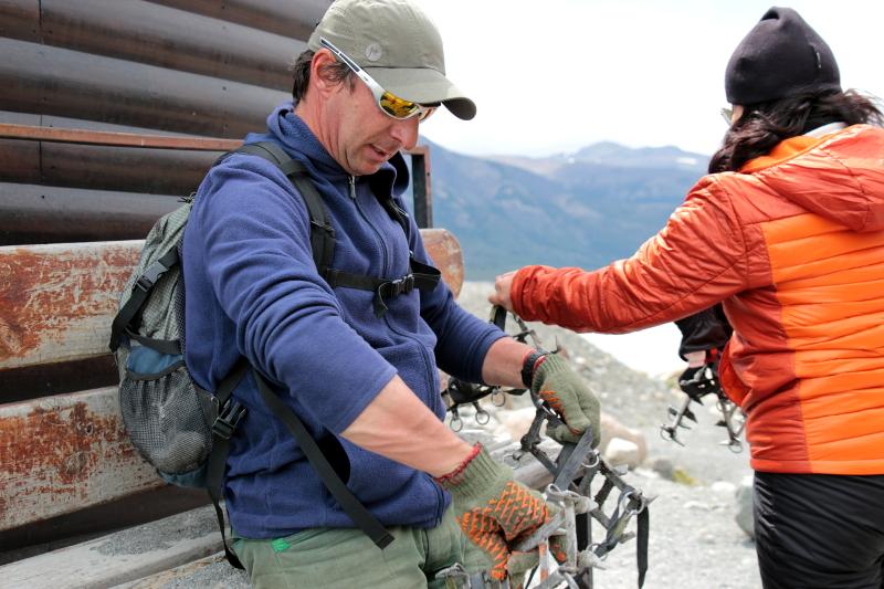 Siga na Viagem - Minitrekking sobre o Glaciar Perito Moreno - Devolução dos grampões