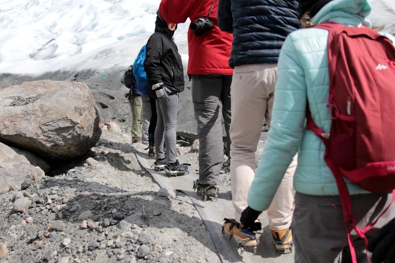 Siga na Viagem - Minitrekking sobre o Glaciar Perito Moreno - Início do minitrekking no Glaciar