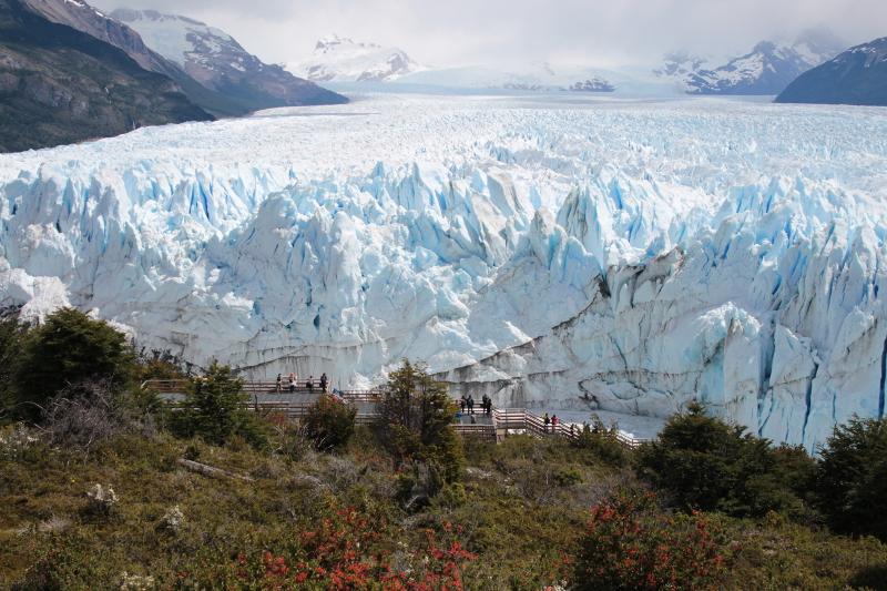 Siga na Viagem - Glaciar Perito Moreno - Vista do Glaciar Perito Moreno no Parque Nacional Los Glaciares
