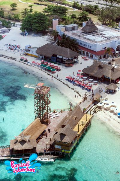 Parasailing em Cancún um passeio surpreendente - Local da empresa - Crédito Parasail Adventure