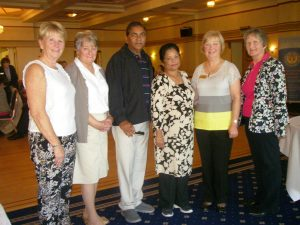 Seema and Shirish are pictured with SI Dundee President Elect Elaine, members and guests.