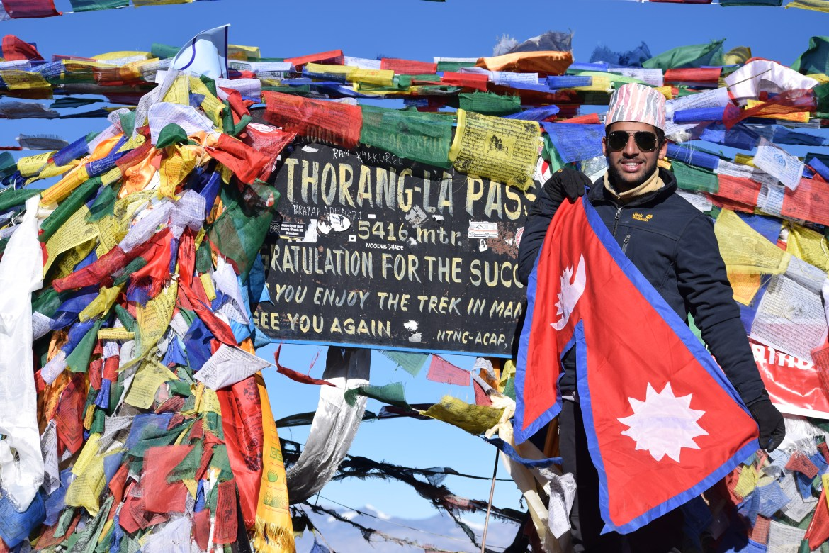 18 Years Old makes it to ThorangLa Pass(5416M)