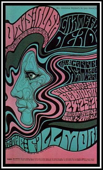 Grateful Dead concert poster by Wes Wilson.