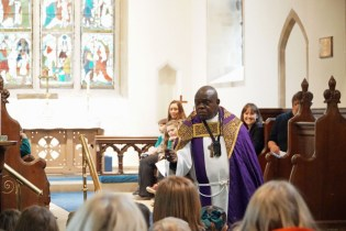 Archbishop preaching at Sigglesthorne CofE Primary School Easter Service in St Lawrence Church
