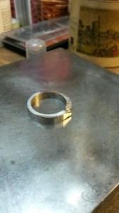 der Ring nach dem Walzen und Schmieden
