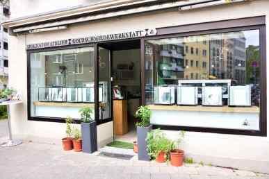 Siggnatur Atelier Siegfried Büeler Goldschmied in der Rochusstraße Schmuckdesign in Düsseldorf