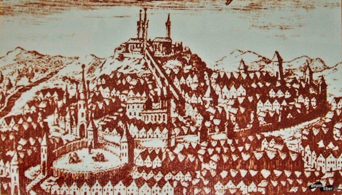 Așa era desenată cetatea Sighișoara la 1669