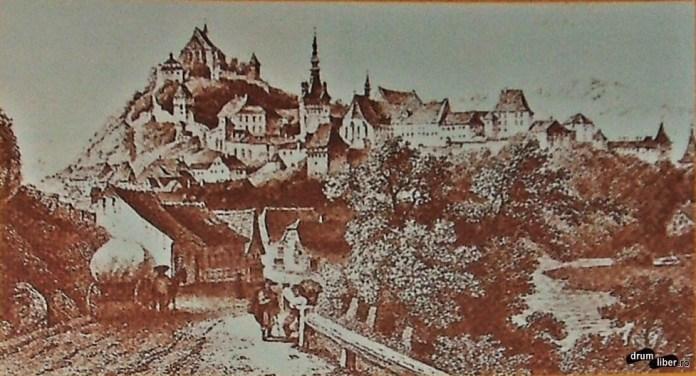 Zidurile cetății Sighișoara la 1860