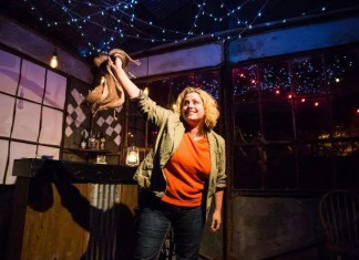 "Jennifer Coy Jennings in Allison Gregory's ""Wild Horses"" at the Vortex Theatre in Austin. Photo by Errich Peterson."