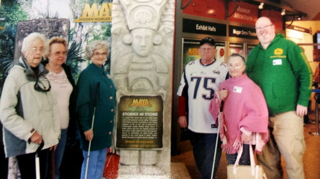 Six people joined the Sight Loss Services trip to the Museum of Science