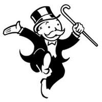 Monopoly game character Uncle Pennybags