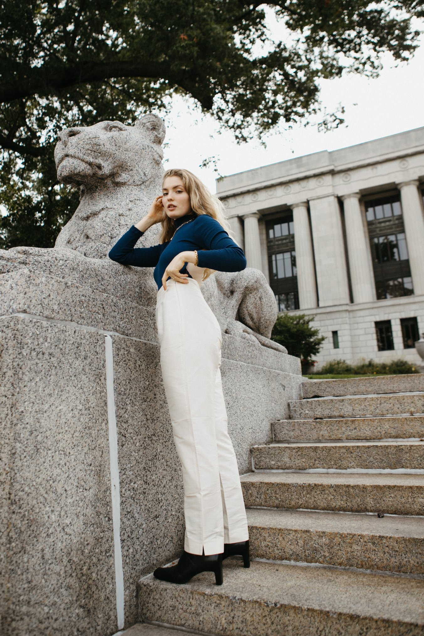 kansas city model martha sustainable fashion thrifted repurposed editorial paige muller sights and souls