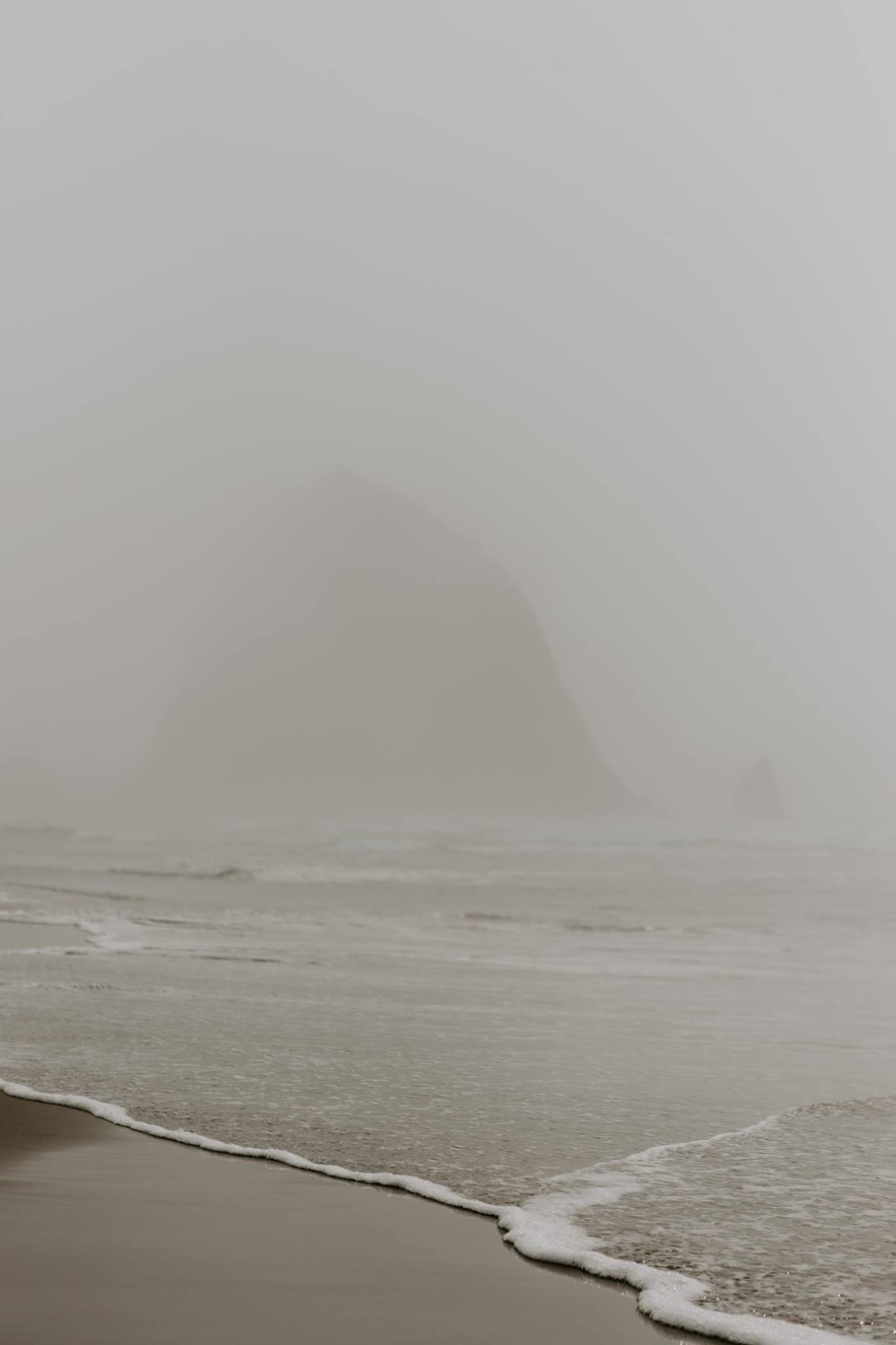 Cannon beach oregon moody landscape photography
