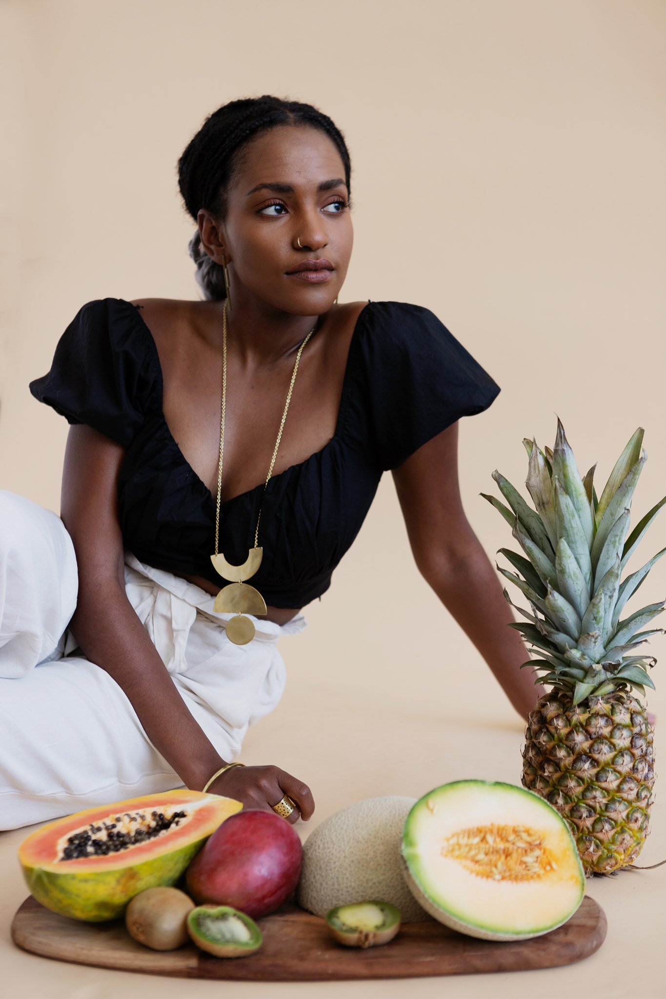fruit necklace sustainable artisan jewelry nepal portland maine fair-wage modern jewelry mulxiply