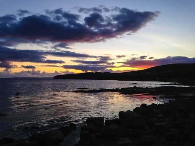 Seal Shore sunset, Arran