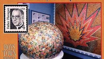 world's largest ball of stamps, omaha nebrasak