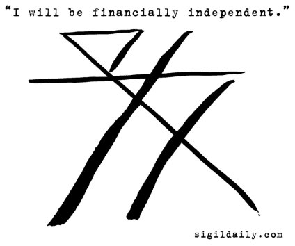 """""""I will be financially independent."""" Brush and ink."""