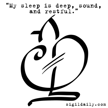 """My sleep is deep, sound, and restful."""