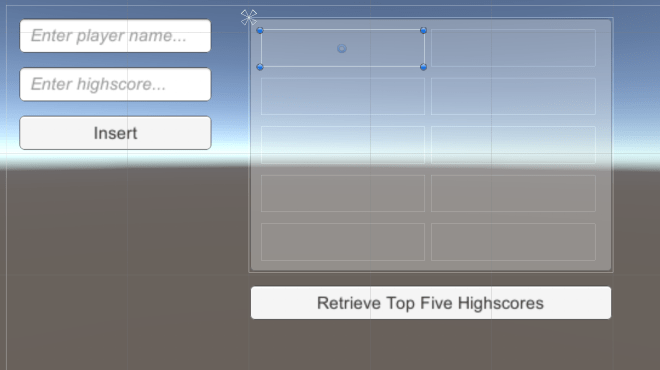 Implementing a Highscore Table using MySQL in Unity 2018