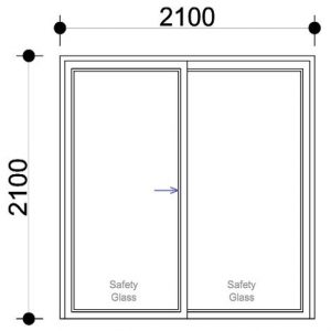 sd2121 ox aluminium sliding door
