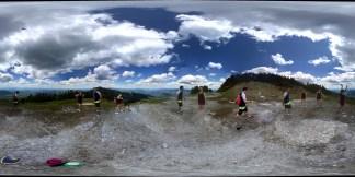 At the top of Lincoln Peak, Sugarbush Resort, VT