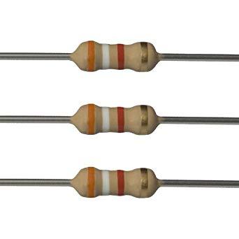 3 9K Ohm 1/4W Resistor