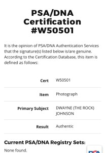Certification page