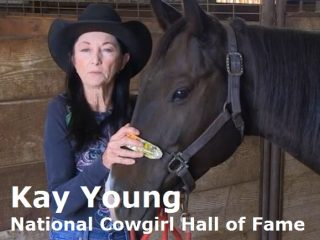 Barrel racer Kay Young, National Cowgirl Hall of Fame, talks about using Equiwinner.
