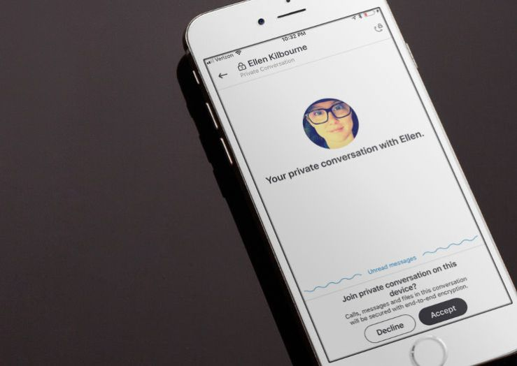 Skype displaying a Private Conversation acceptance screen.