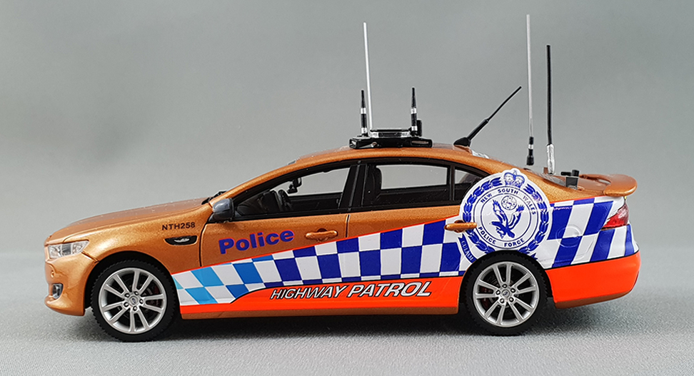 NSW Police Highway Patrol Unit 2016 Ford FGX XR6 Turbo Sedan - Victory Gold