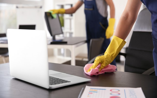 Service sanitaire - désinfection espaces travail