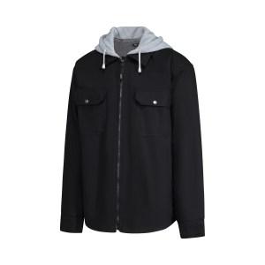 Chemise de type manteau noir ou brun