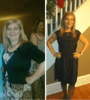 A 44 year old woman (5'2) went from 172 to 127 lbs.  45 lbs in half a year.