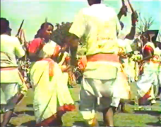 Andhra group dances at Harsud Rally