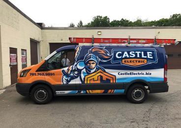 Castle Electric Full Wrap by Signarama Walpole