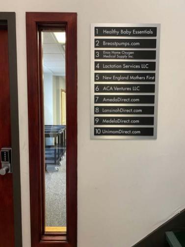 tenant directory sign by Signarama Walpole