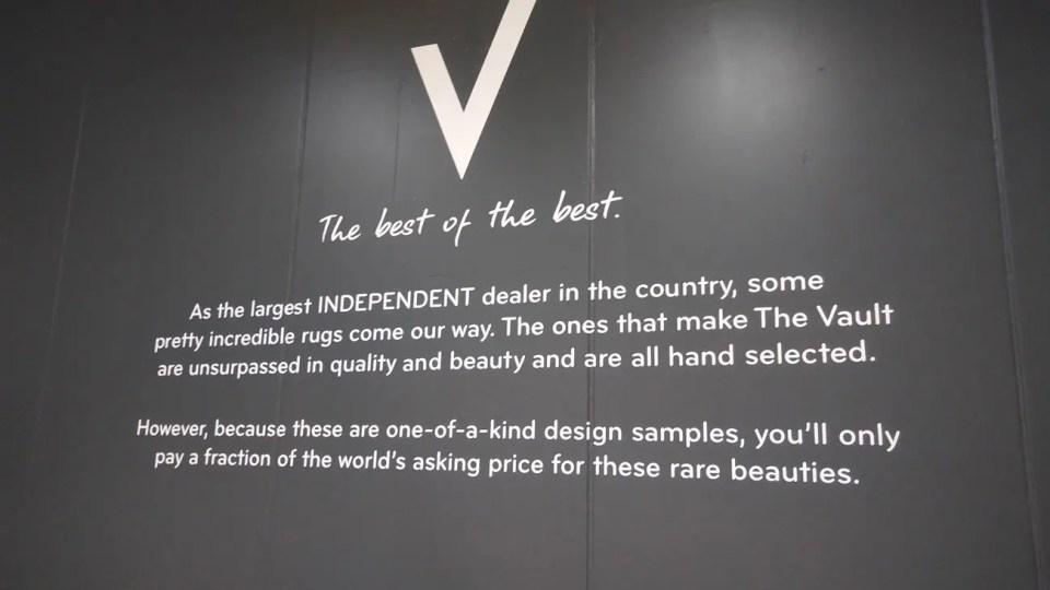 precision cut vinyl large wall retail sign