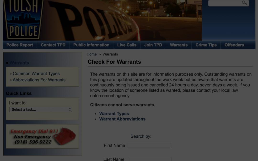 Tulsa Warrant Surrender | What is a Warrant Surrender?