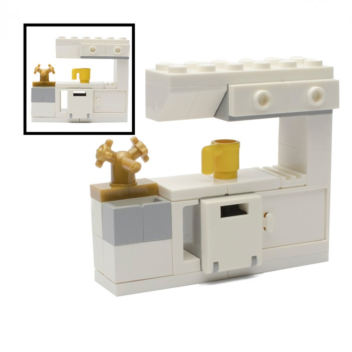 LEGO Kitchen Sink Cabinets Mini Sets Signature Bricks