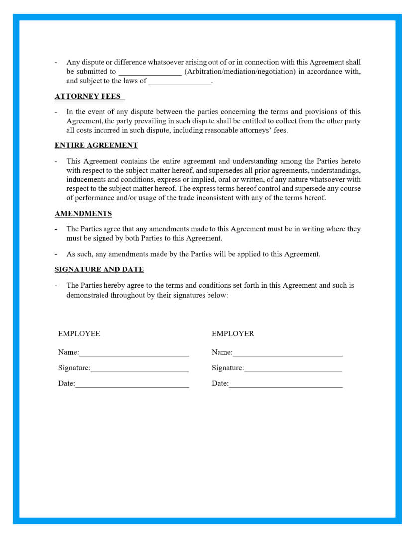 This legal agreement is a document that establishes and defines the rights and responsibilities of both parties namely the employer and the employee or the worker and the. Free Simple Employment Contract Sample
