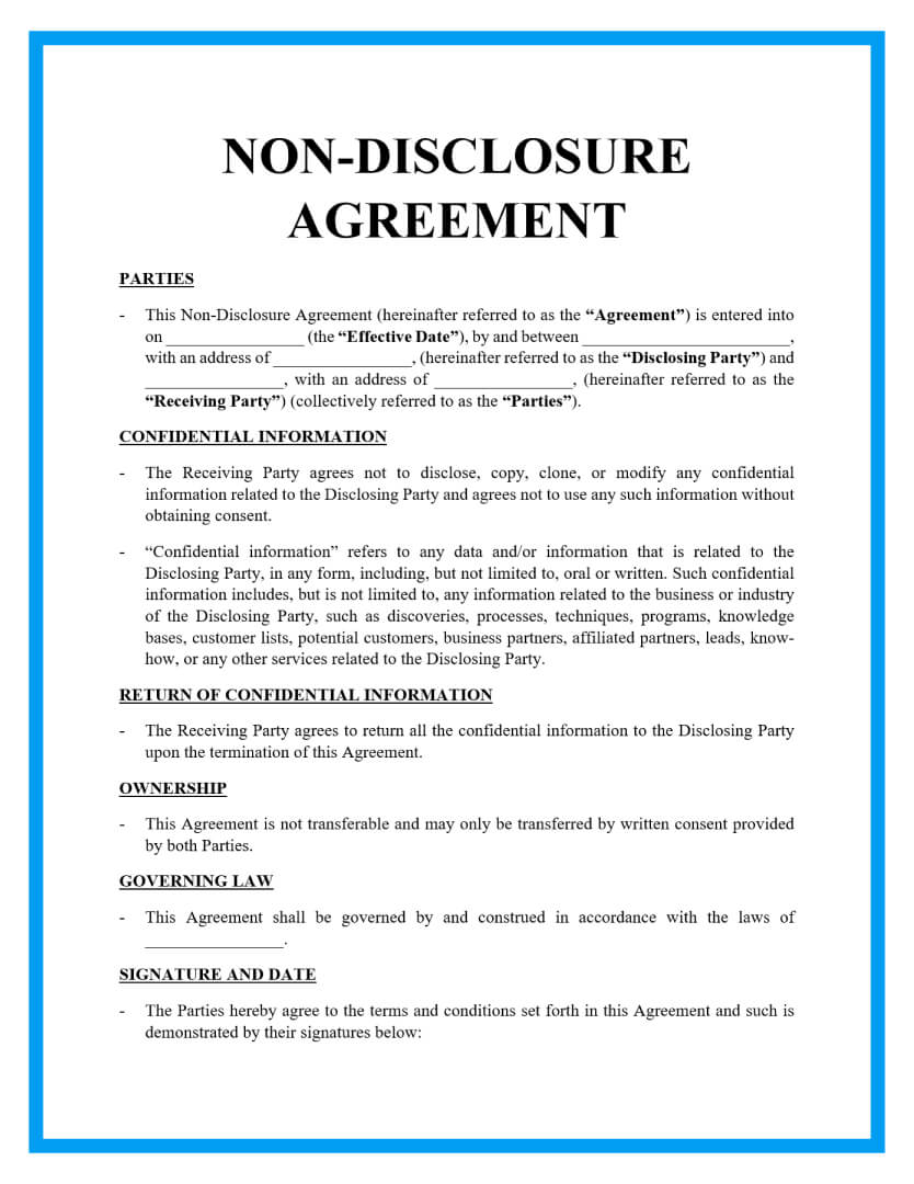 This agreement may be modified only by a further written agreement that is duly executed by both parties. Free Non Disclosure Agreement Template Document